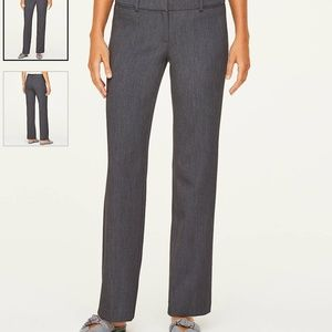 LOFT Trouser pants dark heather grey size 10